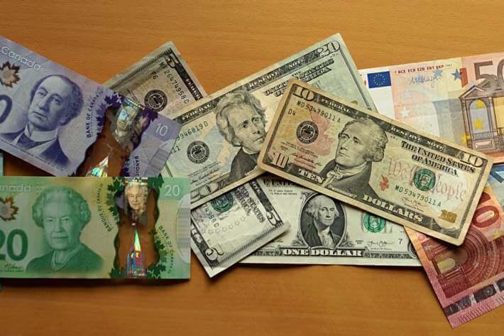 Bargeld auf Reisen, im Ausland