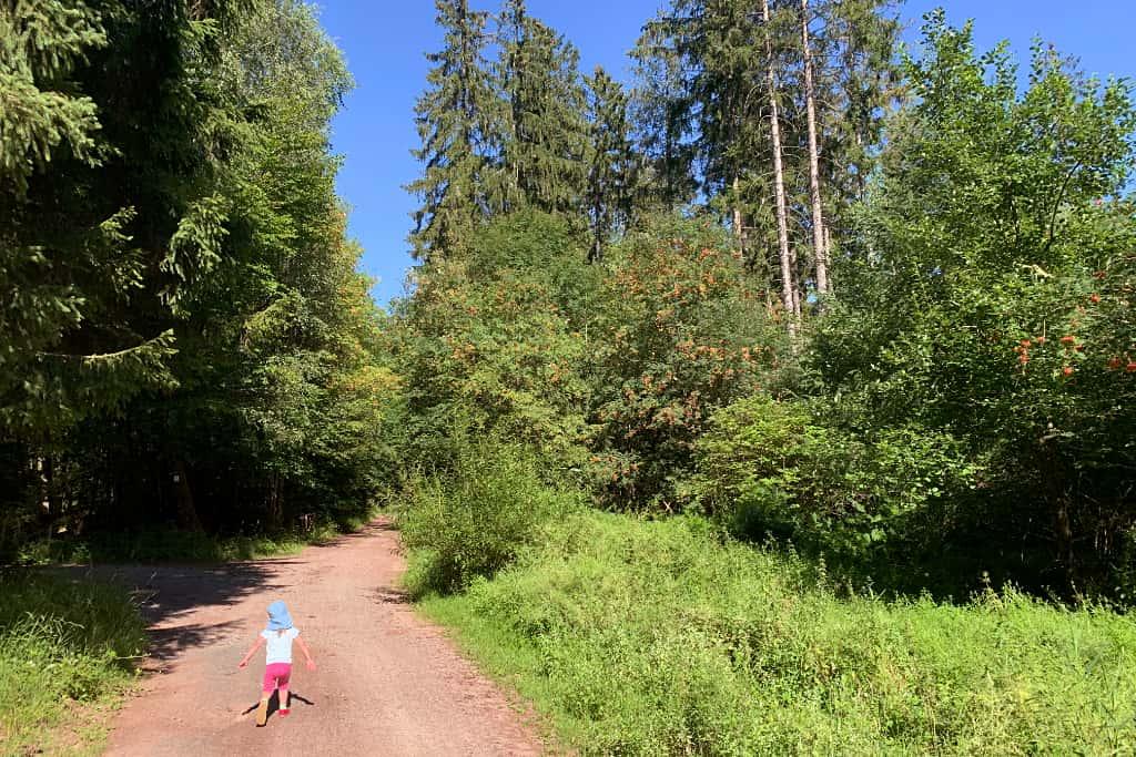 Unsere Tochter beim Wandern im Spessart