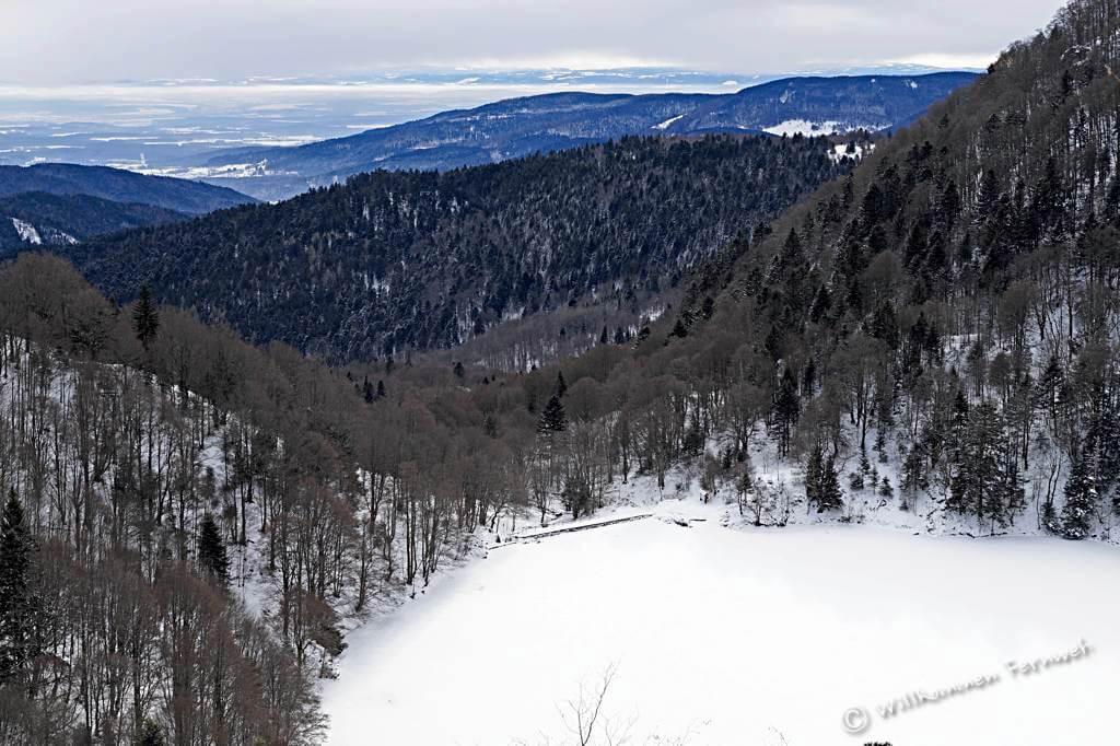 Aussicht oberhalb des Lac des Perches (Sternsee)