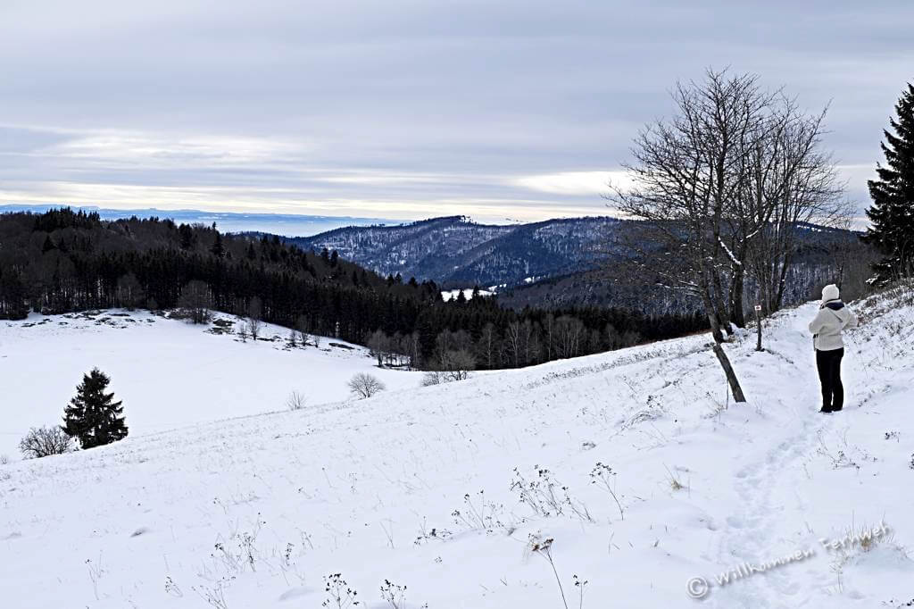Winterwanderung Rouge Gazon
