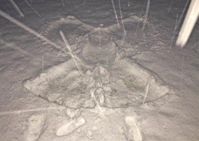 Schnee-Engel nach der Sauna...
