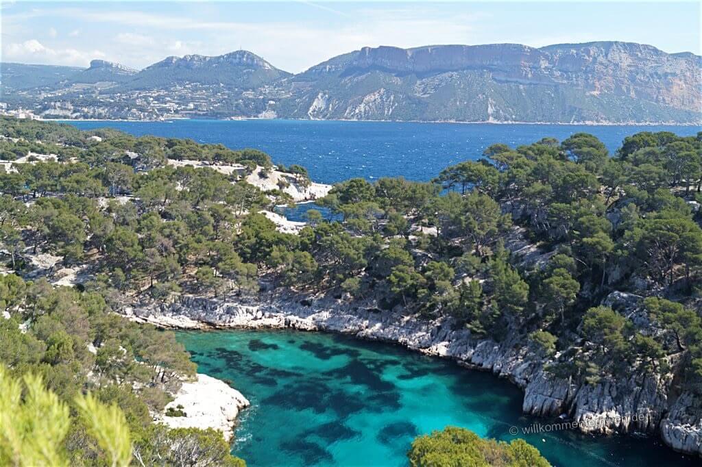 Calanque de Port Pin mit Blick nach Cassis