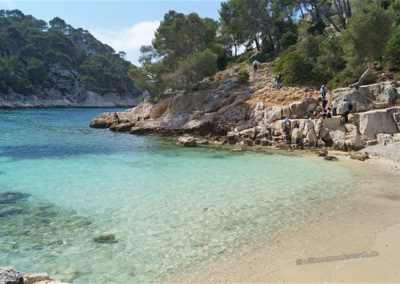 Am Strand der Calanque de Port Pin
