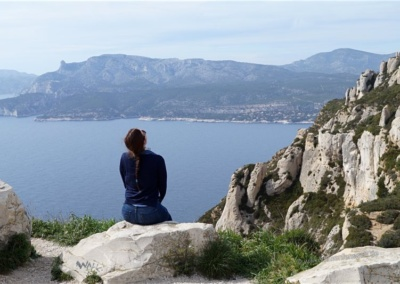 Aussichtspunkt an der Corniche des Cretes