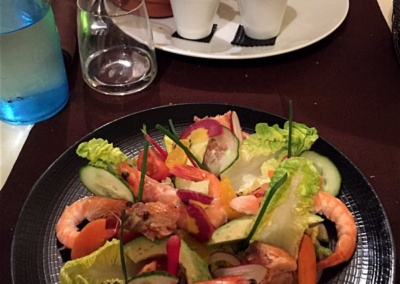 Essen im Les Agapes, Vence