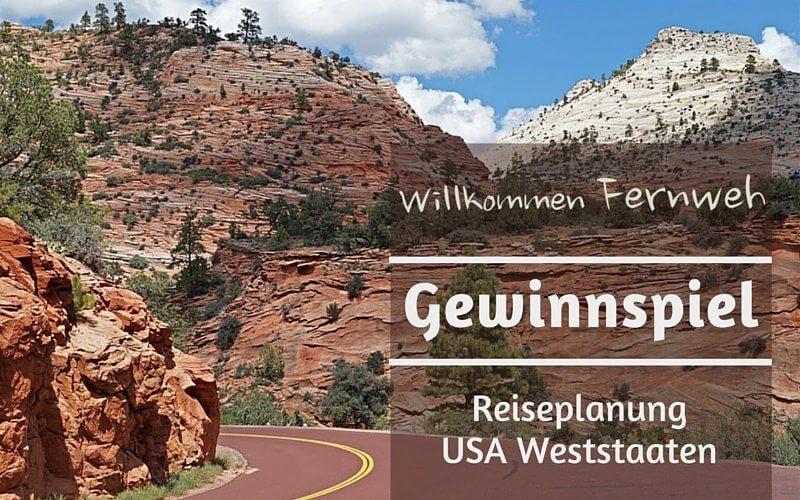 Gewinnspiel Reiseplanung USA Weststaaten
