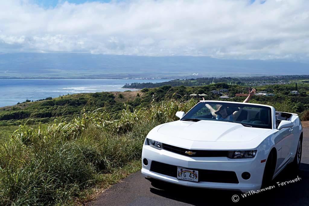 Mit dem Camaro Cabrio auf Maui unterwegs