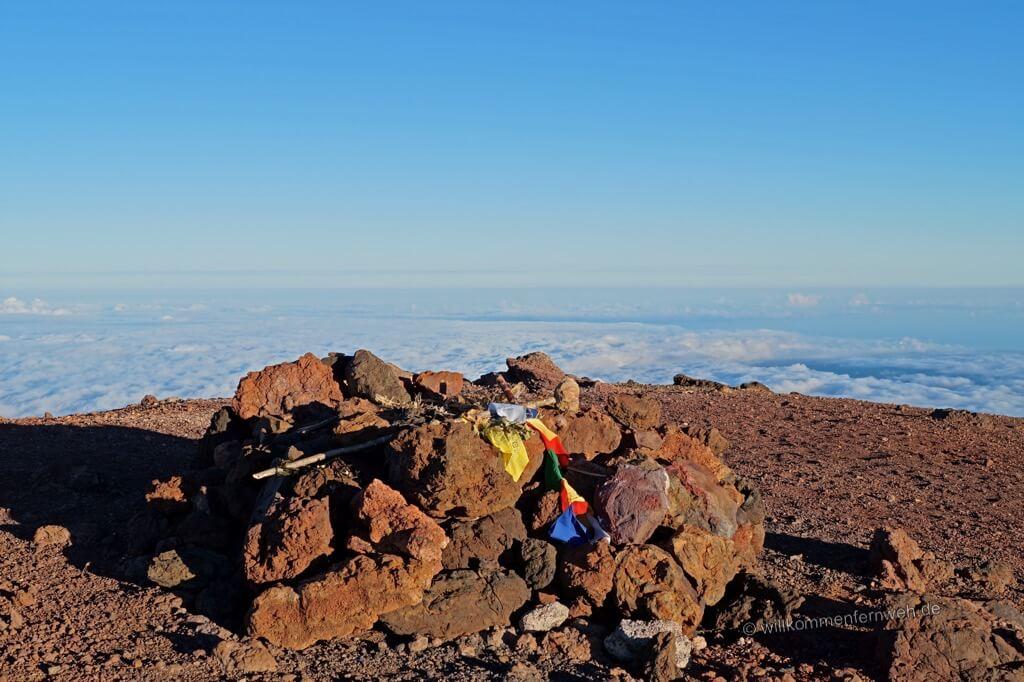 Auf dem Gipfel des Mauna Kea, Hawaii Big Island