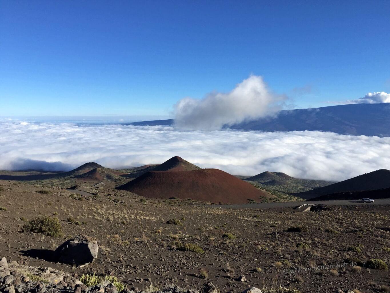 Mondlandschaft über den Wolken, Mauna Kea