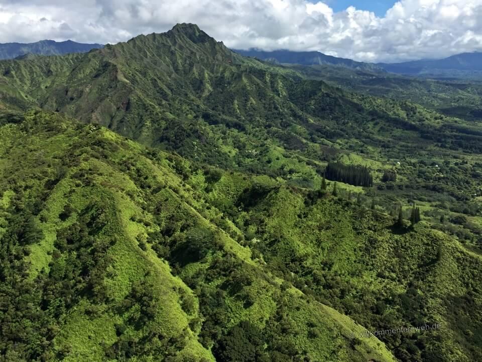 Kauai vom Helikopter aus