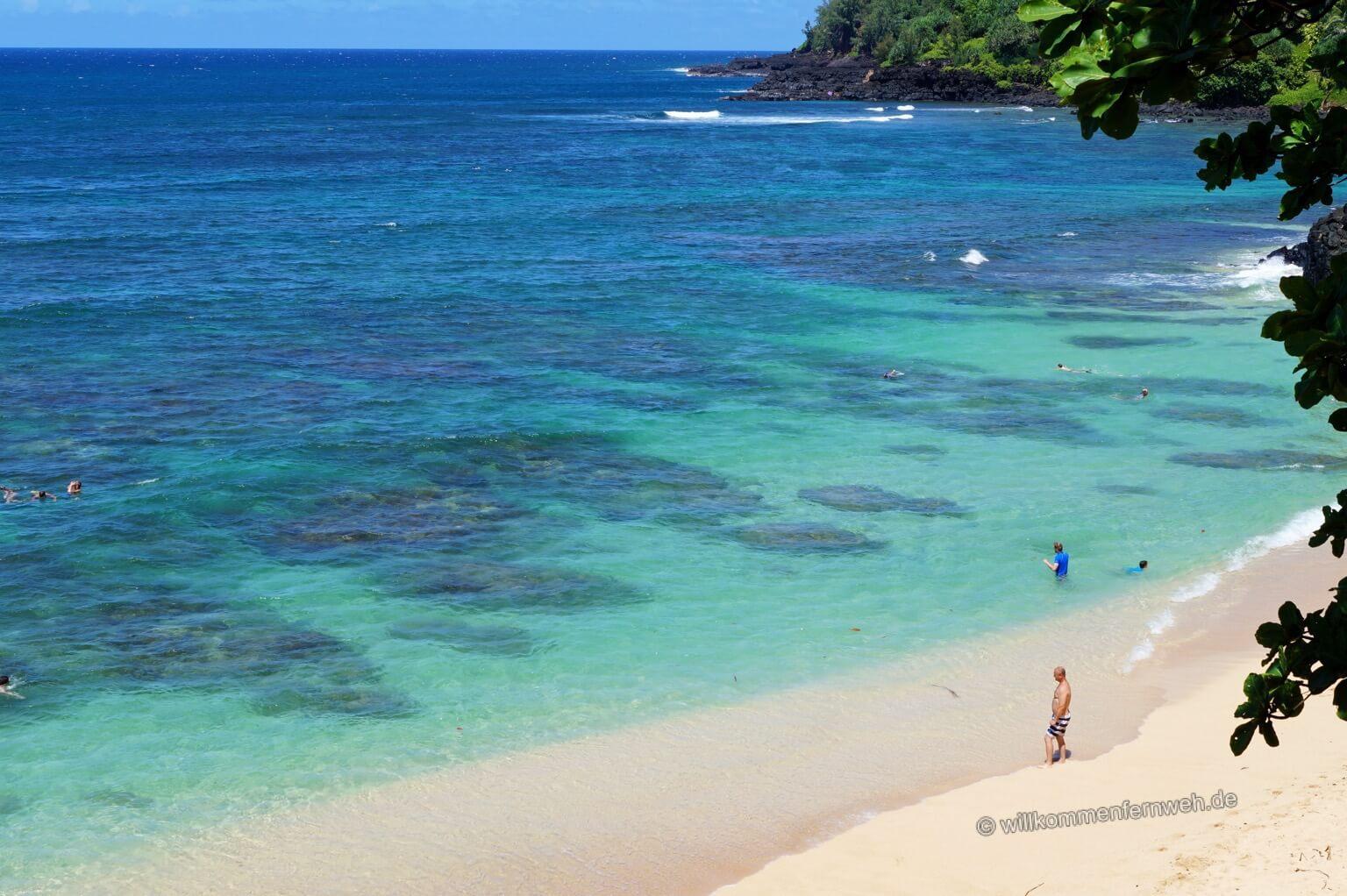 Pali Ke Kua Beach (Hideaways Beach), Kauai