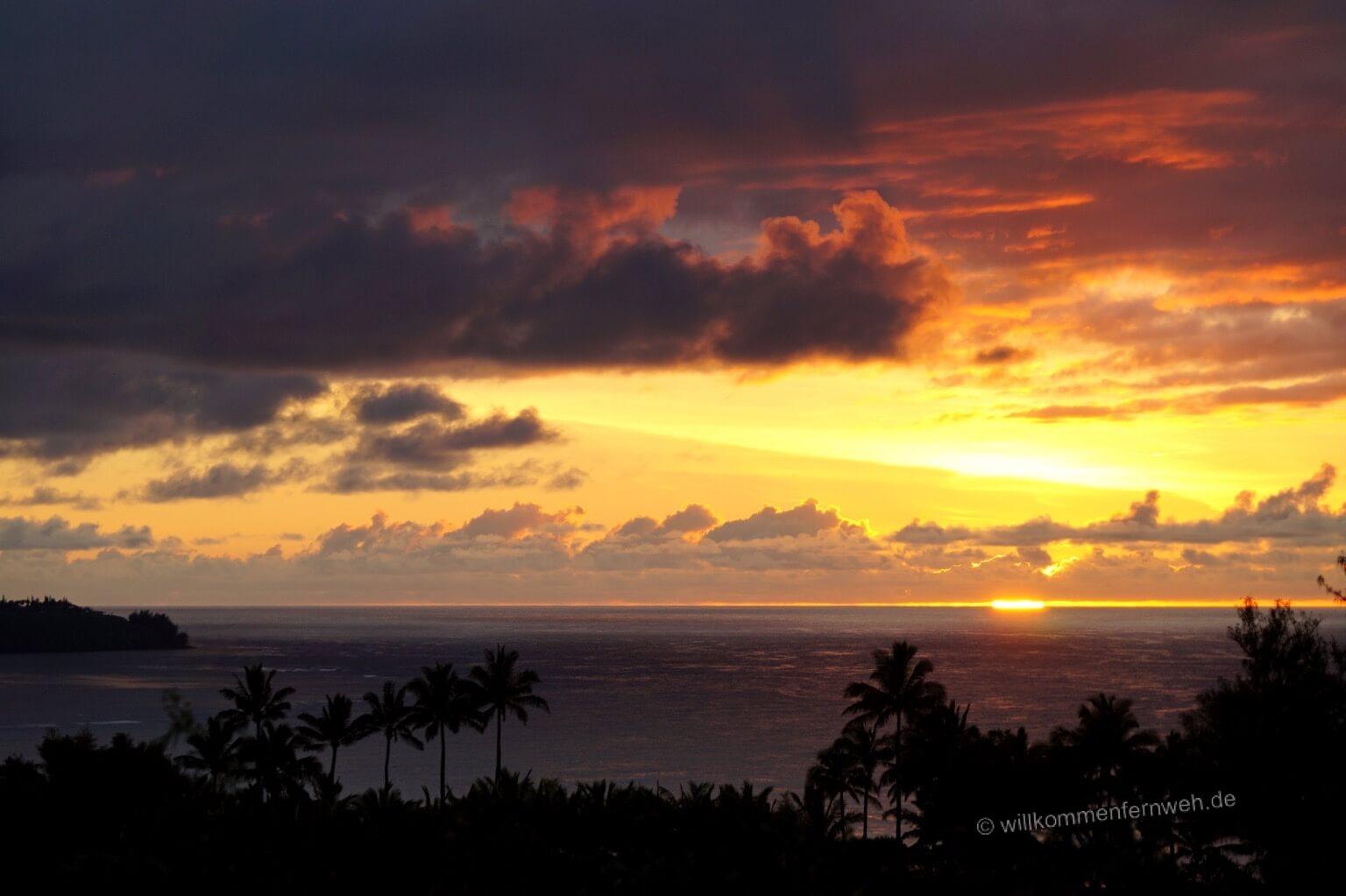 Sonnenuntergang, Kauai