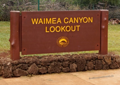 Waimea Canyon Schild