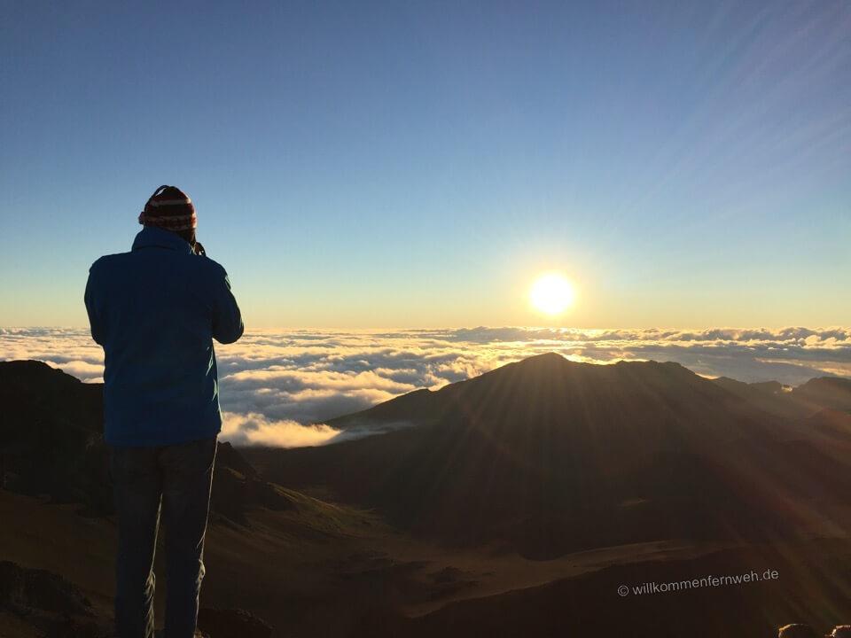 Klaus beim Fotografieren, Haleakala