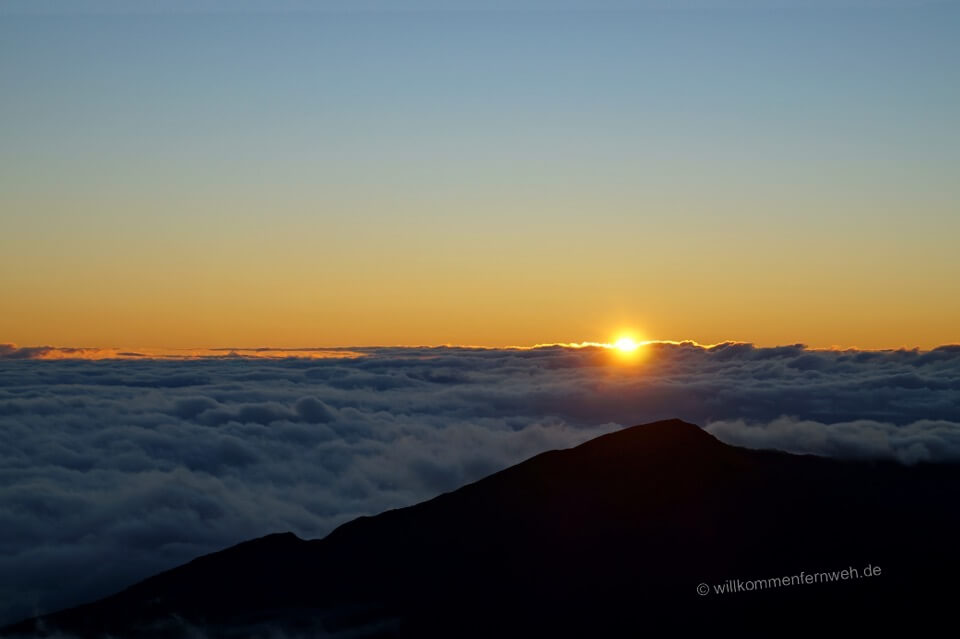 Sonnenaufgang auf dem Haleakala, Maui, Hawaii