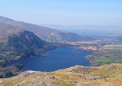 Blick vom Healy Pass zum Glanmore Lake