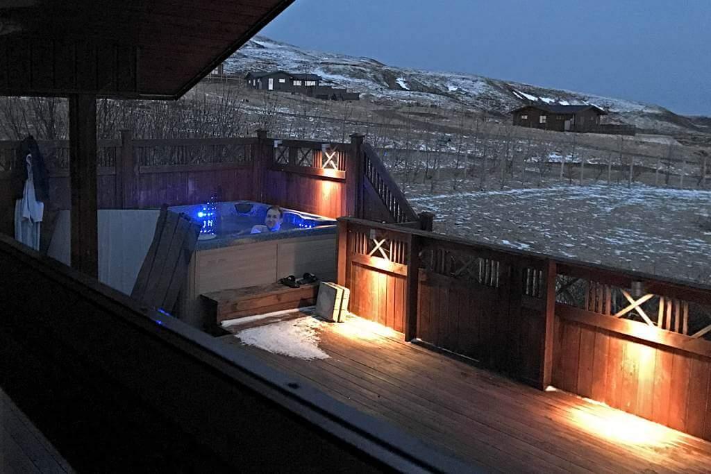Unser Hot Tub am Ferienhaus – eine Wohltat!