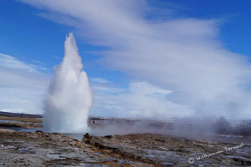 Der Geysir Strokkur, Golden Circle