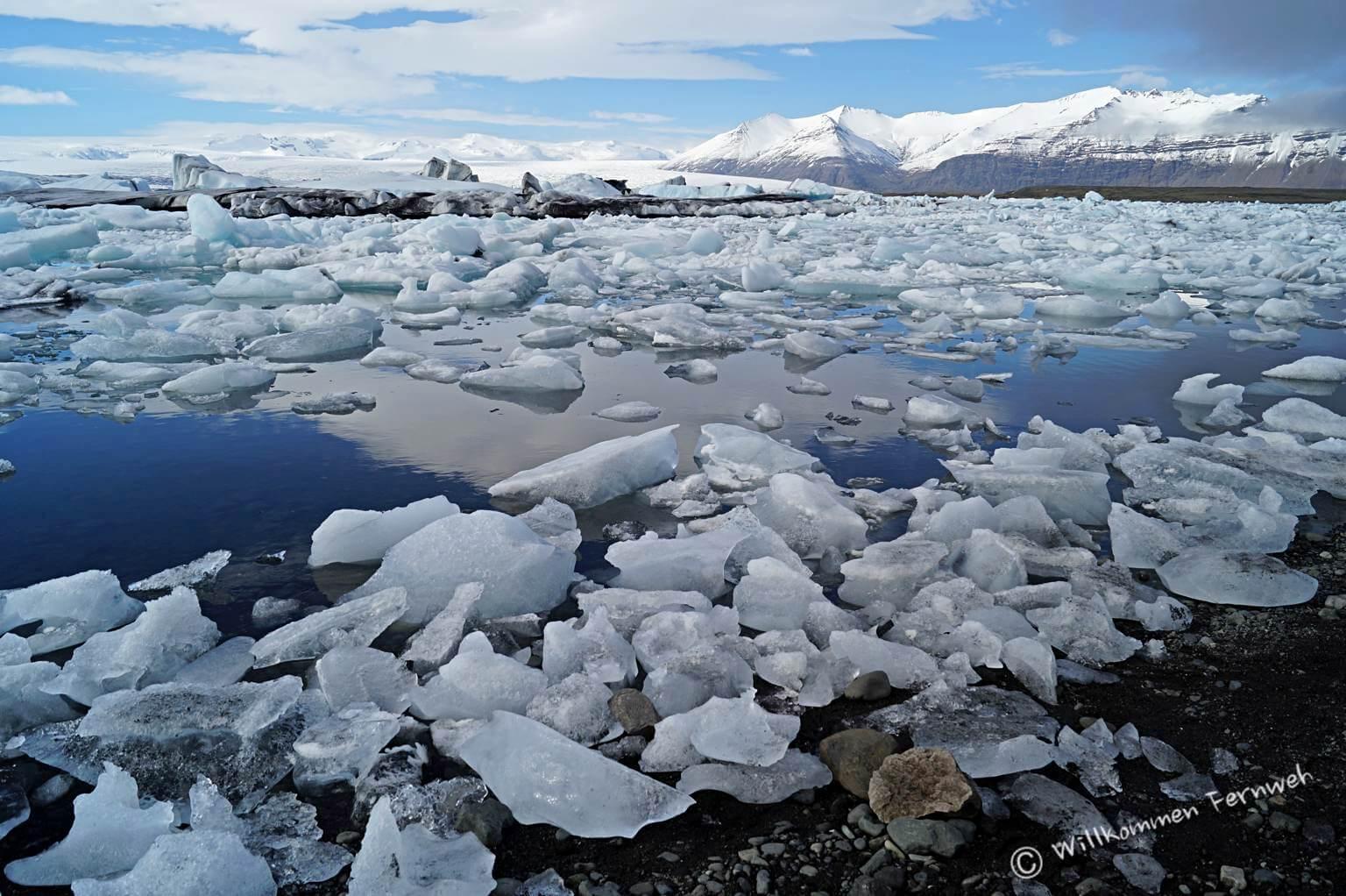 Eisbrocken von winzig bis riesig – Gletscherlagune Jökulsárlón