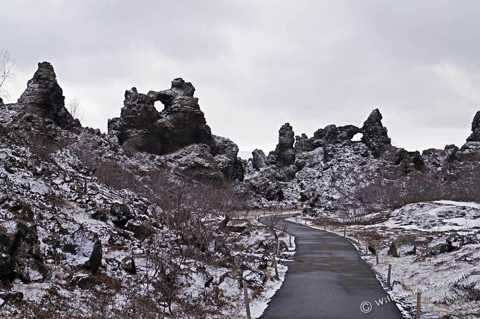 Reich der Elfen und Trolle – das Lavafeld Dimmuborgir