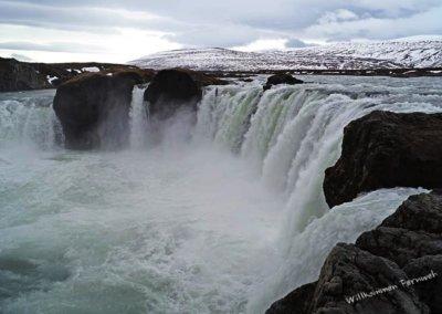 Der Goðafoss etwas westlich des Myvatn