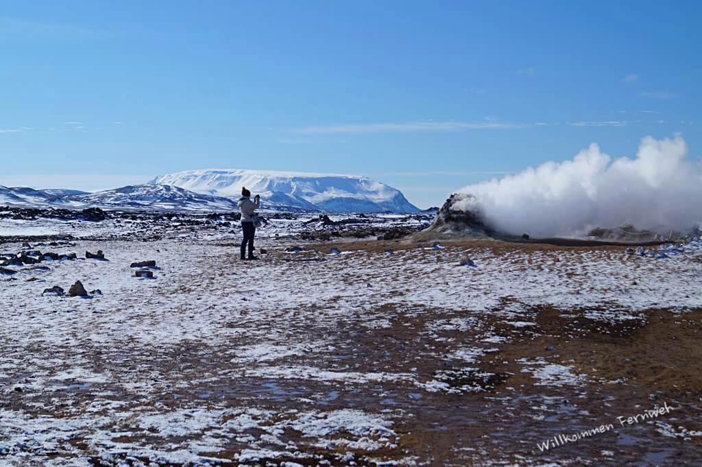 Am Solfatarenfeld Námaskarð, Myvatn
