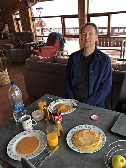 Basisgericht Pfannkuchen für Selbstversorger auf Island