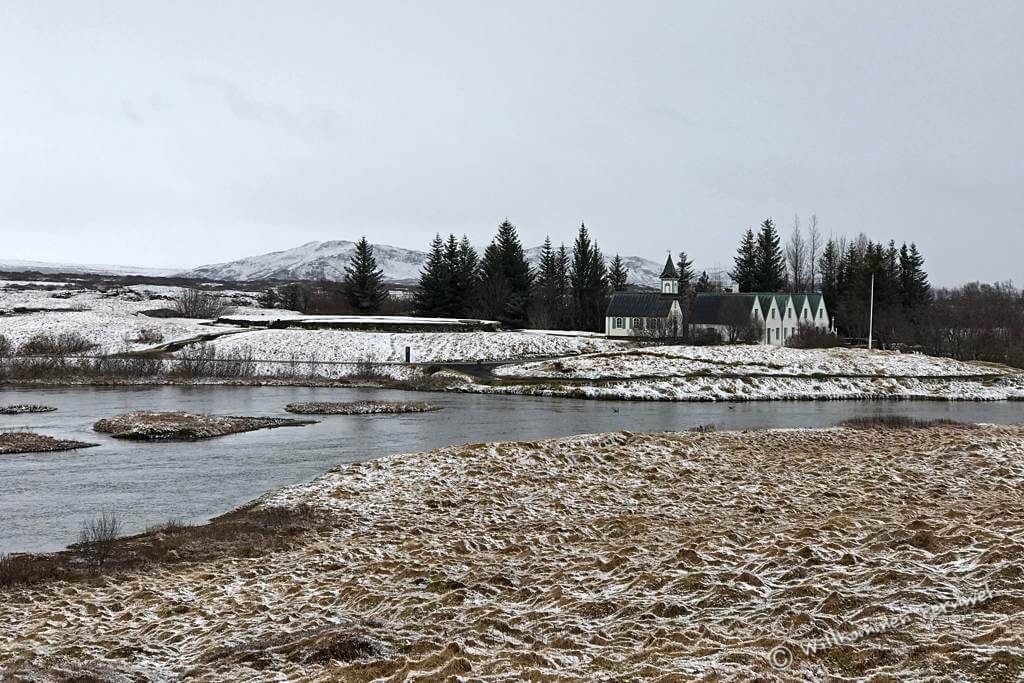 Þingvallakirkja im Þingvellir-Nationalpark