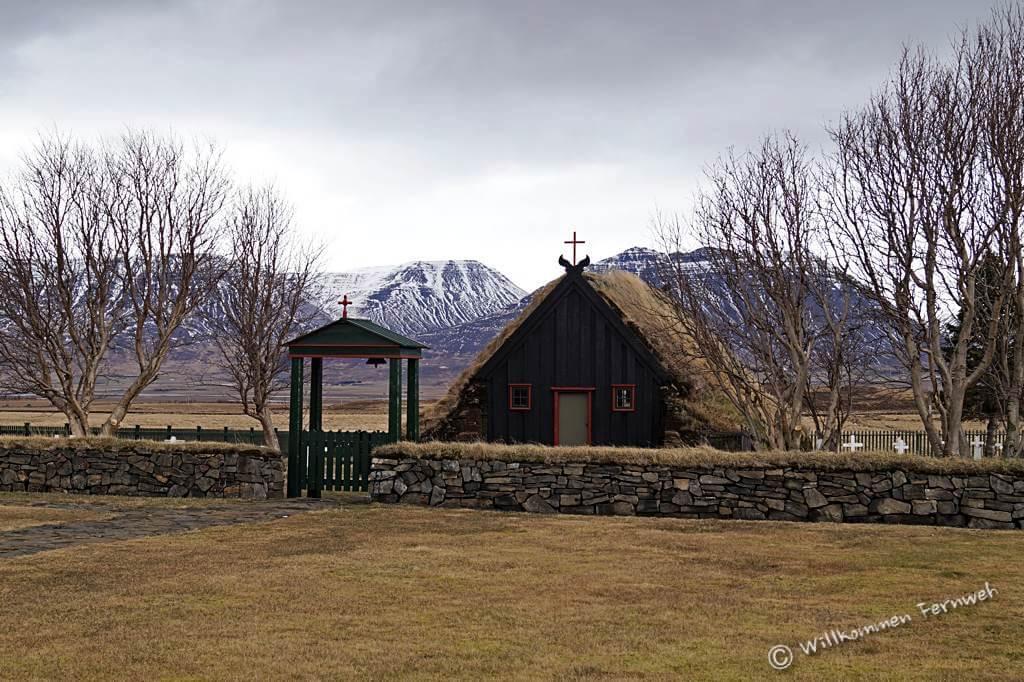 Die Vidimyrarkirkja im Norden Islands