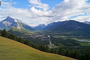 Ausblick vom Mount Norquay auf Banff, Banff National Park