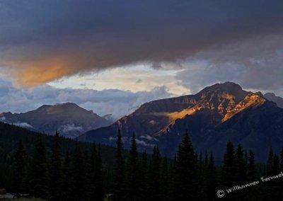 Sonnenuntergang im Banff Nationalpark