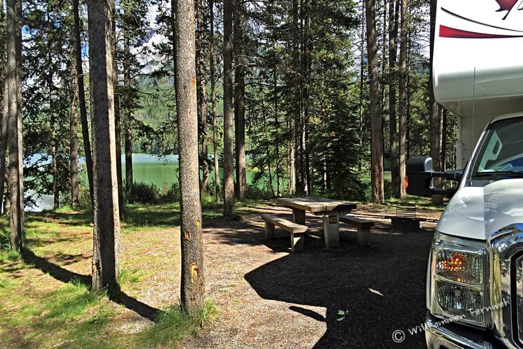 Unsere Site am Two Jack Lakeside Campground, Banff