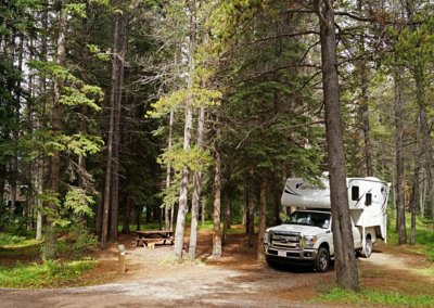 Unser Stellplatz am Waterfowl Lakes Campground