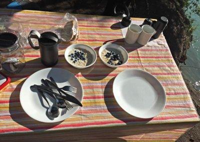 Frühstück am Campground