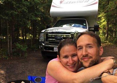 Kerstin und Klaus am Robson Shadows Campground