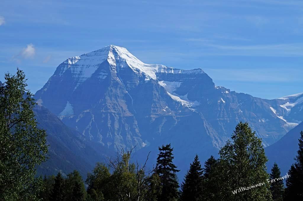 Der Mount Robson ohne Wolkenschicht, Kanada