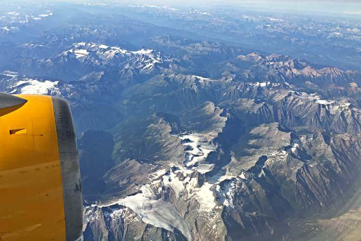 Die kanadischen Rocky Mountains von oben