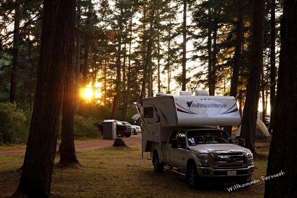 Sonnenuntergang auf dem Campground in Kanada