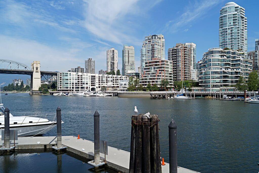 Downtown Vancouver von Granville Island aus