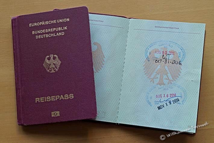 Reisepass Einreise USA