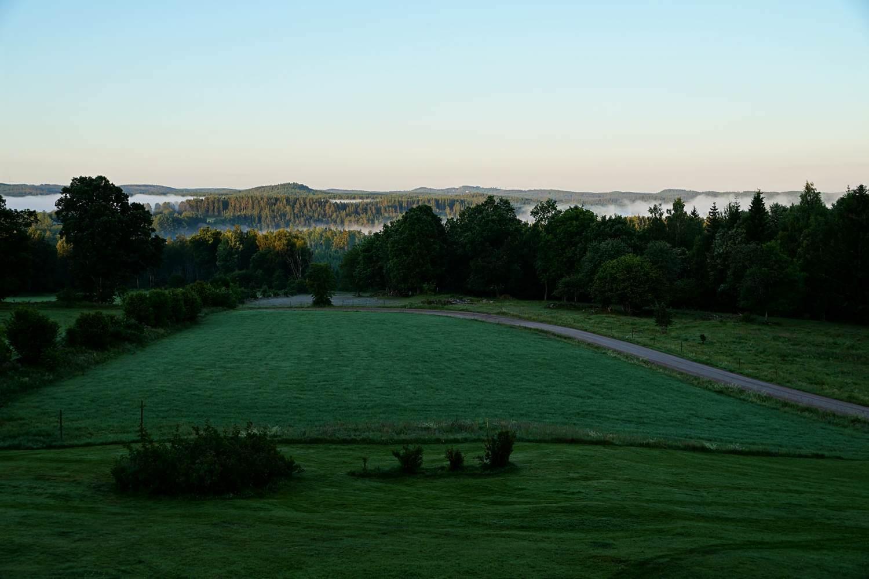 Morgendlicher Ausblick auf Småland
