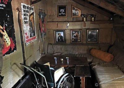 Gruseliges Zimmer im Café Cineast