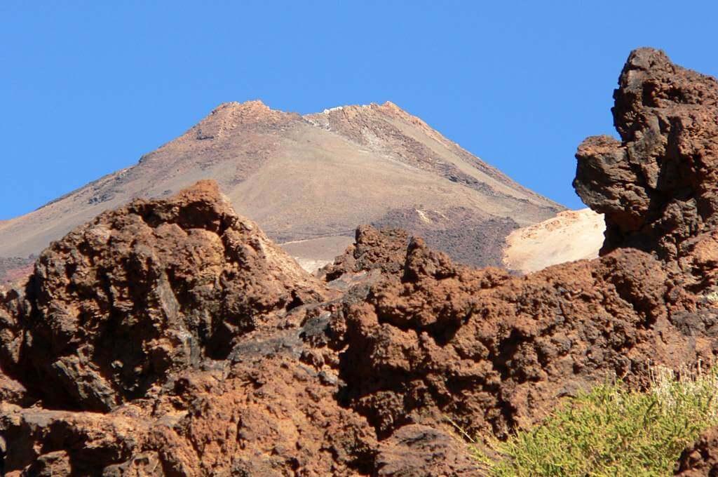 Der Pico del Teide von der Caldera aus fotografiert
