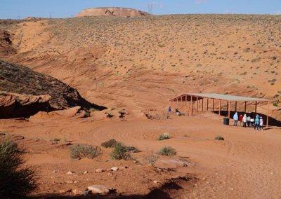 Der Eingangsbereich vor dem Abstieg