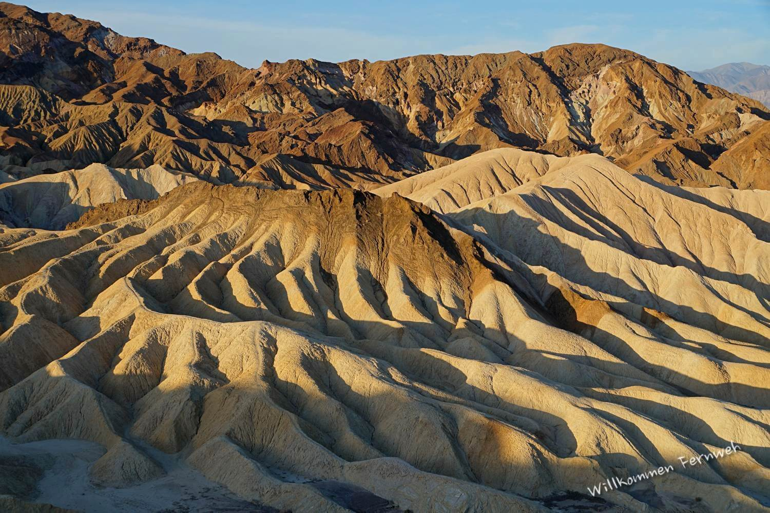 Zum Sonnenaufgang am Zabriskie Point, Death Valley Nationalpark
