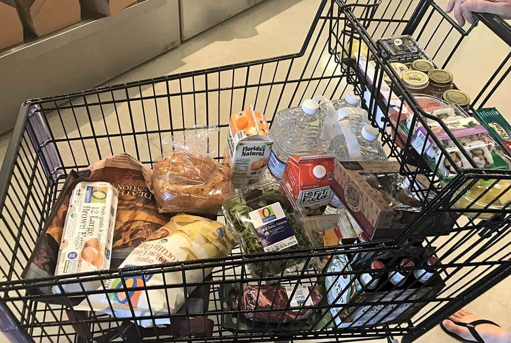 Supermarkt-Einkauf 2018 (hier: Safeway)