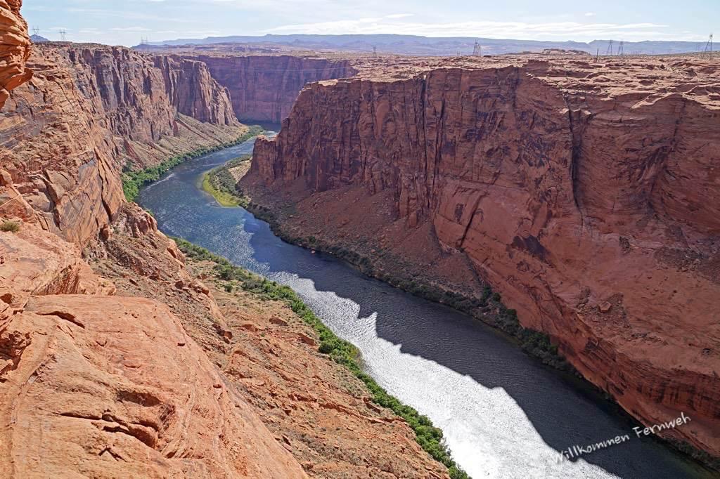 Der Colorado River nach dem Glen Canyon Dam des Lake Powell