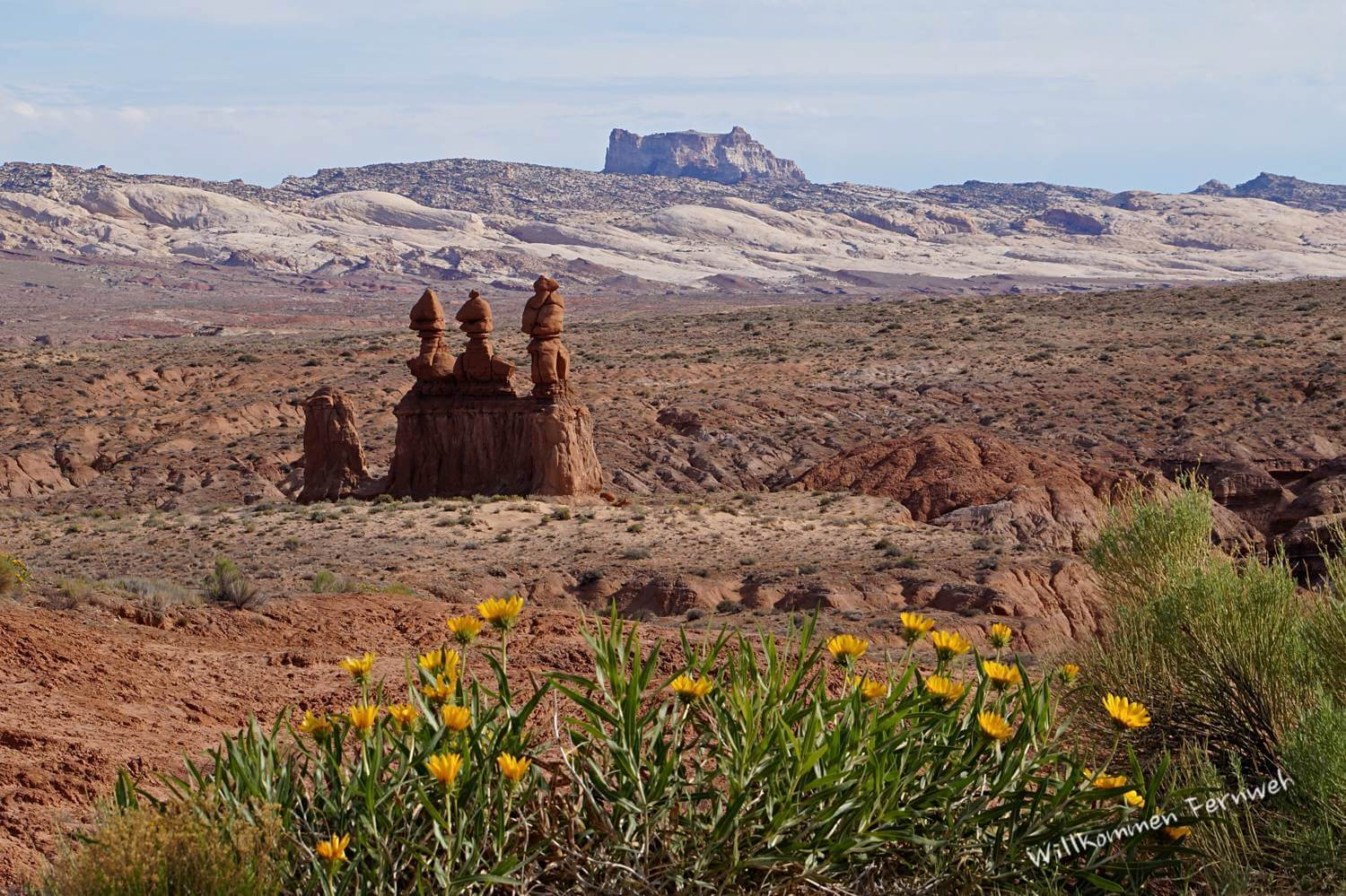 Die Three Sisters im Goblin Valley State Park
