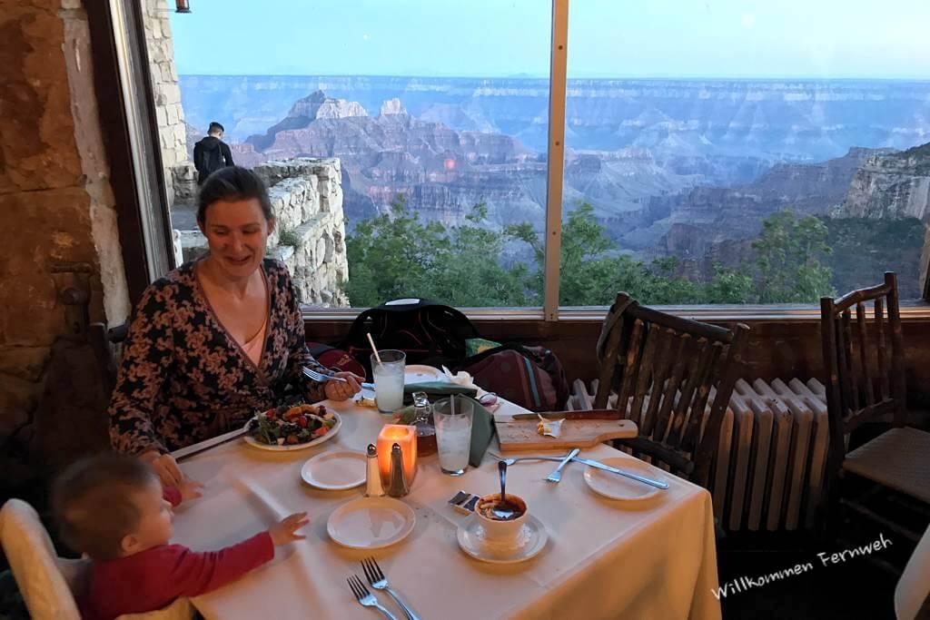 Beim Dinner in der Grand Canyon Lodge, North Rim