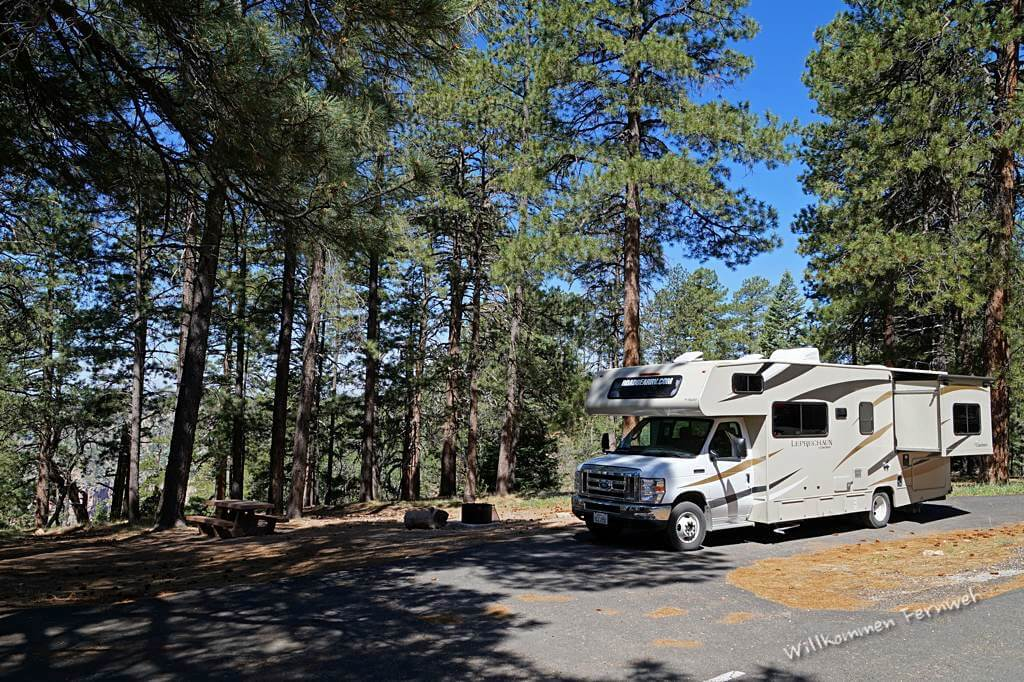 Unsere Site 14 auf dem North Rim Campground, Grand Canyon National Park